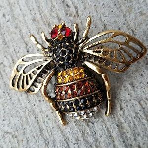 Crystal Honeybee brooch